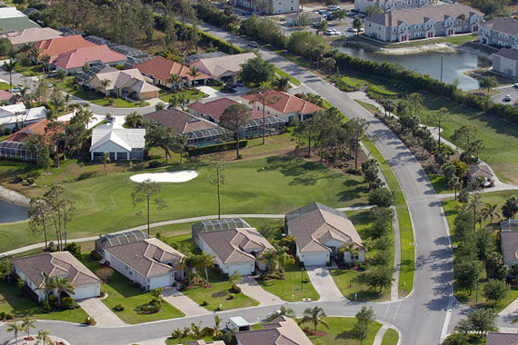 active adult community aerial photo